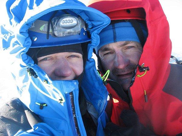Tomáš Pilc a Martina Vaváčková na vrcholu hory Mont Blanc.