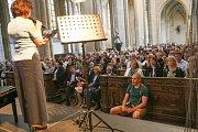 Ze zahajovacího koncertu Mezinárodního hudebního festivalu Kutná Hora 2019 v chrámu svaté Barbory.