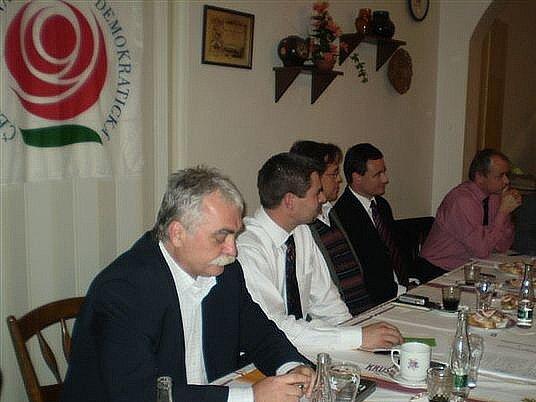 Okresní konference ČSSD v restauraci U České koruny ve Zbraslavicích.