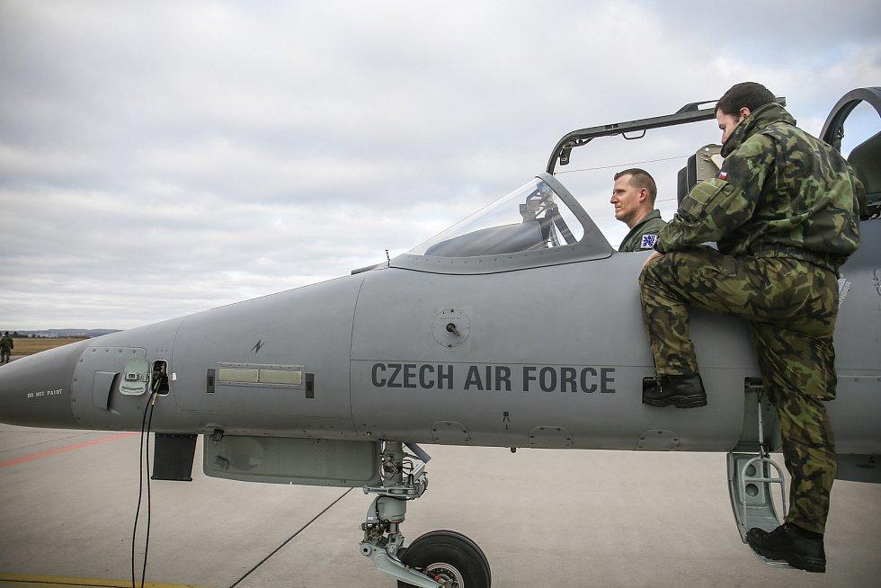 Podzvukový letoun L-159 ALCA  patří do výbavy 21. základny taktického letectva v Čáslavi.