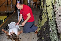 Ochotnický spolek Uhlíř v místní sokolovně uvedl premiéru hry Přízrak.