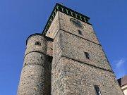 Výhled z věže kostela svatého Bartoloměje v Kolíně.