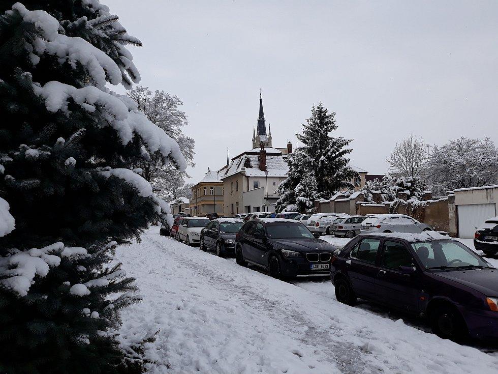 Zasněžená Čáslav.