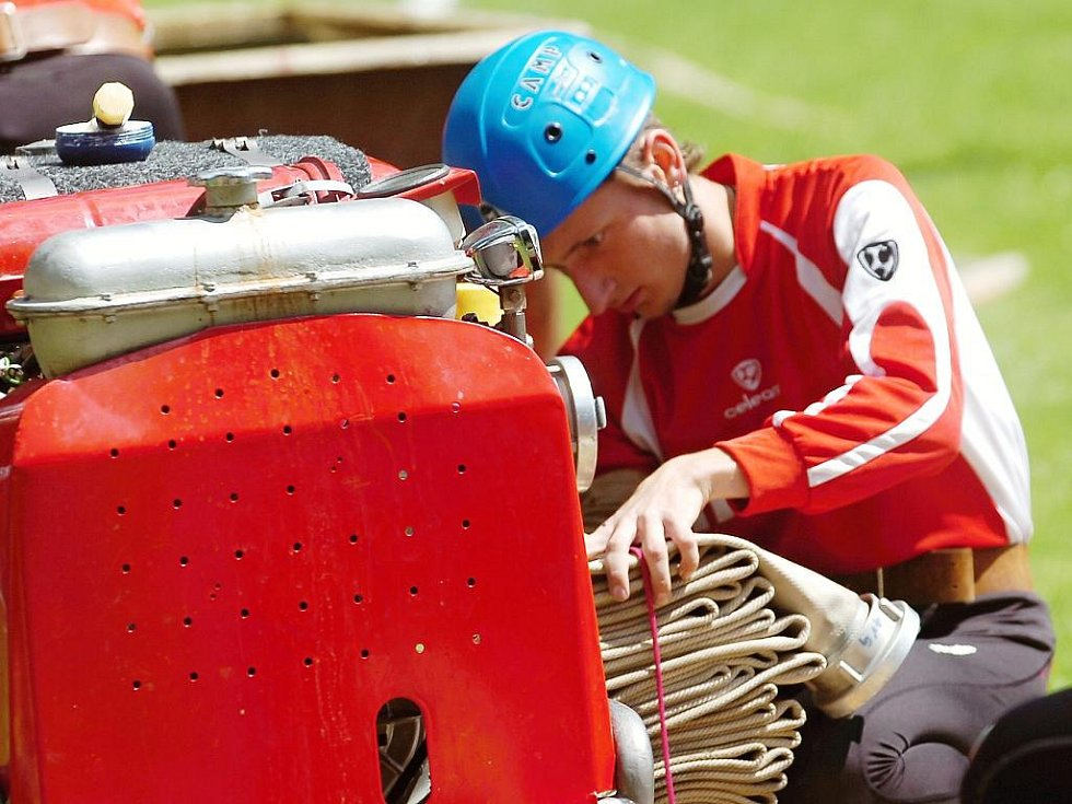 Sbory dobrovolných hasičů se utkaly v požárním sportu v sobotu na Močovické proudnici.