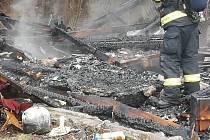 U požáru zasahovali také dobrovolní hasiči z Nových Dvorů.