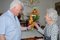 Růžena Málková z Čáslavi oslavila 102. narozeniny