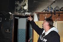 Požár v kabině kutnohorských hokejistů, 27. října 2010.