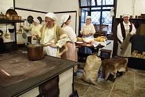 Zámecká kuchyně na zámku Žleby.