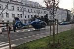 Dopravní nehoda u nemocnice v Jeníkovské ulici v Čáslavi.