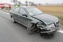Dopravní nehoda se obešla bez zranění