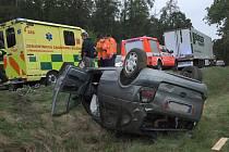 Dopravní nehoda mezi Hranicemi a Borovou ve čtvrtek 10. září 2020.