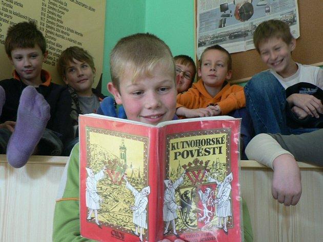 Žáci ze čtvrté třídy ZŠ Žižkov Kutná Hora.