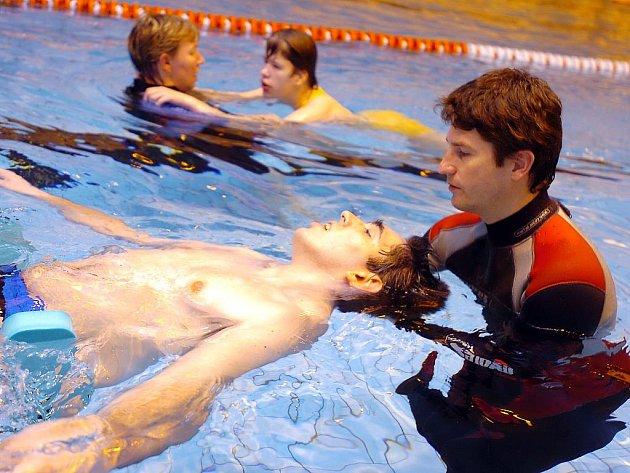 Plavání pro tělesně postižené v Kutné Hoře. 12. 1. 2010