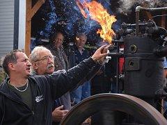 Výstava traktorů v Kralicích.