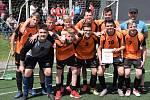 Z krajské kvalifikace minifotbalové Sportovní ligy základní škol v Jičíně - 1. místo: ZŠ Vrdy.