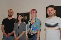 Ze zahájení dvacátého ročníku Sympozia současného výtvarného umění Jenewein - Kutná Hora v Sankturinovském domě.