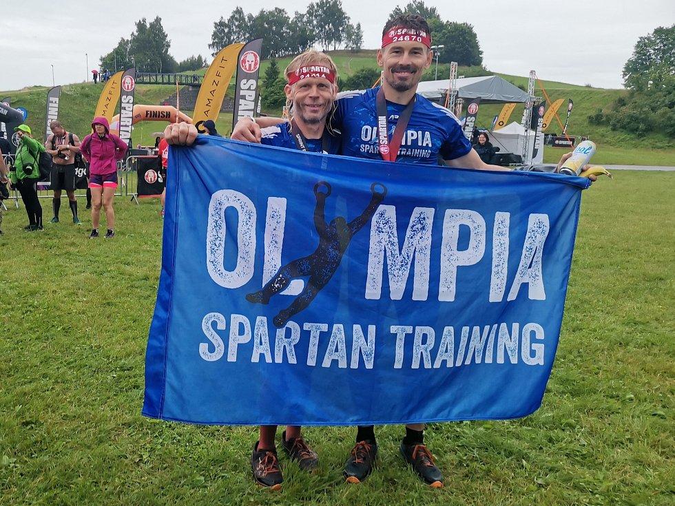 Olympia Spartan Training Kutná Hora v Liberci. Na snímku Vladimír Chwastek (vlevo) a Jakub Vencl.
