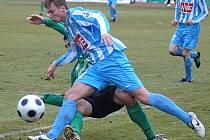 Z utkání druhé fotbalové ligy Sokolov - Čáslav (0:0).