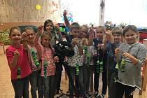 Z natáčení dětského televizního pořadu Šikulové na kutnohorské Palachovce.