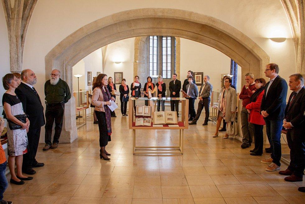 Ze zahájení výstavy středověkých knižních maleb Codices Illustres v Kutné Hoře.