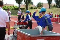 Krajské kolo hasičské soutěže Plamen v Kutné Hoře.