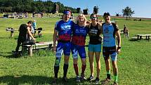 Závodníci Olympia Spartan Training Kutná Hora v Kyjevě. Zleva Jakub Vencl, Monika Andělová, Martina Pavlíková a Michal Pavlík.