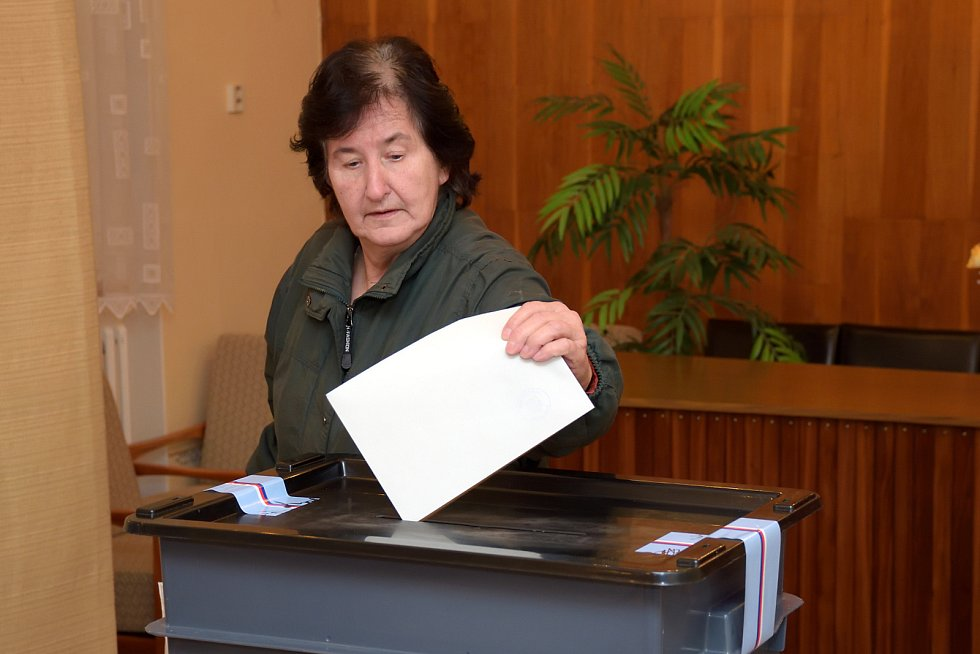 Prezidentské volby 2018 ve Zbraslavicích. Volební okrsek číslo 1.