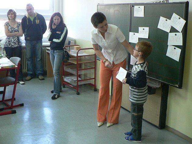 Zahájení školního roku 2008/2009 v I. Základní škole ve Zruči nad Sázavou.