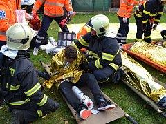 Cvičný požár v dětském domově prověřil souhru složek Integrovaného záchranného systému.