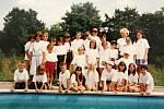 Letní tábor Domu dětí a mládeže v Čáslavi ve Zbyslavci v červenci roku 1999.