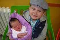 Amálie Končelová se narodila 8. dubna 2019 v 11.03 hodin v čáslavské porodnici. Vážila 3480 gramů a měřila 53 centimetrů. Domů do Čáslavi si ji odveze maminka Adéla, tatínek František a čtyřletý bráška Fáňa.