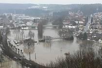 Zatopená část města na jaře roku 2006.