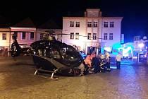 Nehoda u hotelu Bílý kůň v centru Čáslavi.