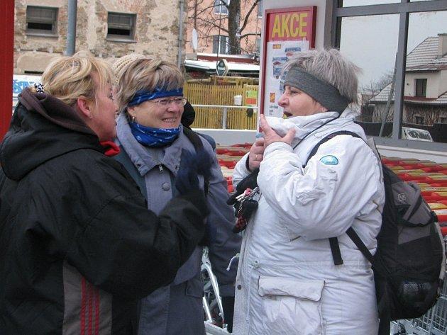 Oddíl čáslavských turistů se v mrazivém dopoledni vydal na pochod do Horek.