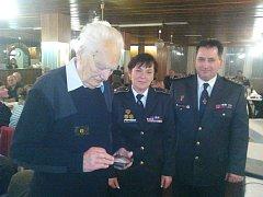Mojmír Šourek převzal medaili za 70 let práce u dobrovolných hasičů