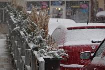 Sníh, Kutnohorsko 17. února 2016