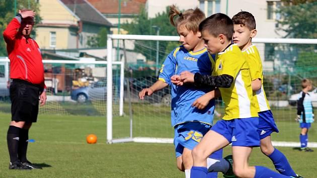 Z mistrovského turnaje fotbalových mladších přípravek v Církvici.