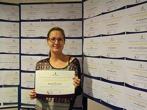 Základní škola T. G. Masaryka v Kutné Hoře se stala e-Twinningovou školou. Certifikát převzala učitelka Kateřina Opočenská.