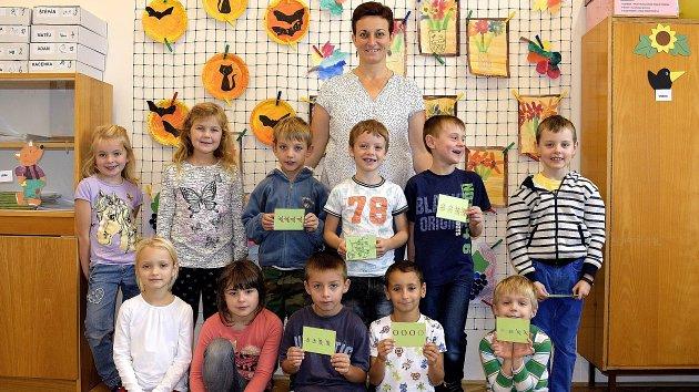 Základní škola Zbraslavice, třída I.B s učitelkou Vendulou Tvrdíkovou.