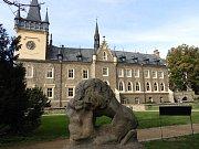 Plastika lva na zručském zámku je opředena tajemstvím