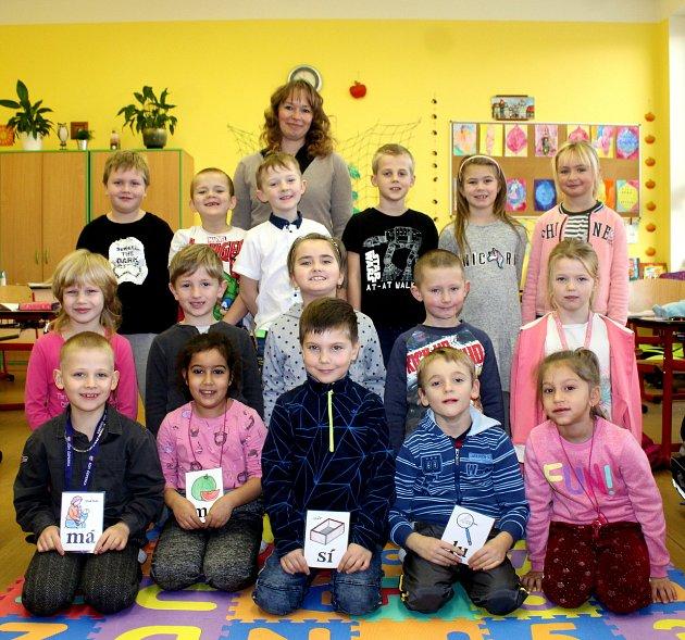 Třída 1.B ze Základní školy ve Vrdech sučitelkou Janou Pospíšilovou ve školním roce 2019/2020.