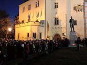 Happening v Kutné Hoře k výročí 17. listopadu.