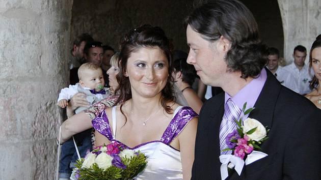 Nevšední motorkářskou svatbu si naplánovali Veronika Syrová a Zdeněk Zahradník.