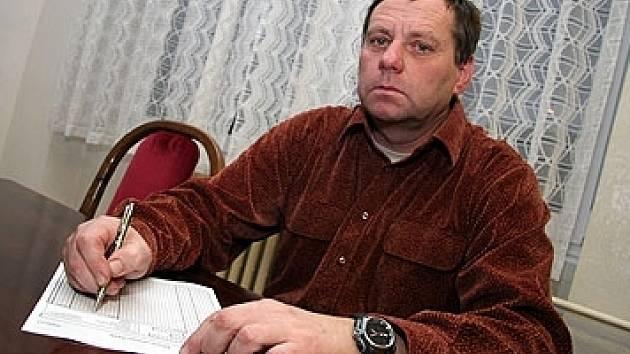Předseda OFS Kutná Hora Lubomír Ledvina.