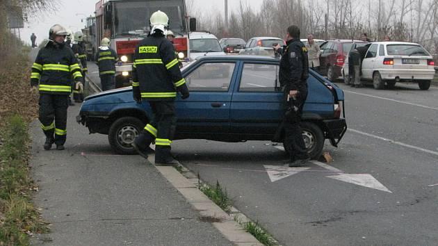 Dopravní nehoda na Karlově v Kutné Hoře.