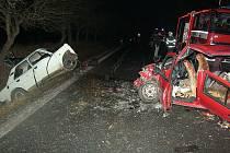 Dopravní nehoda mezi Dolními Bučicemi a Podhořany.
