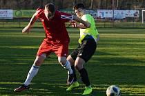 Čtrnácté kolo okresního fotbalového přeboru vyšlo lépe fotbalistům Křesetic, kteří na hřišti v Malešově vyhráli 2:1 po penaltovém rozstřelu.