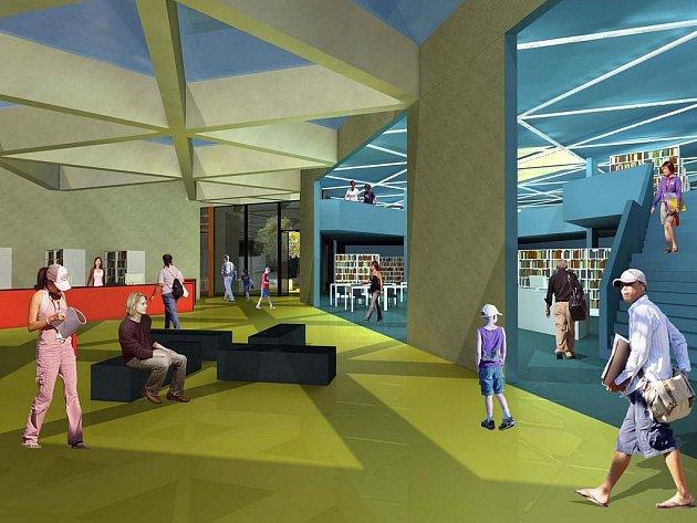 Návrh nové knihovny v Kutné Hoře.