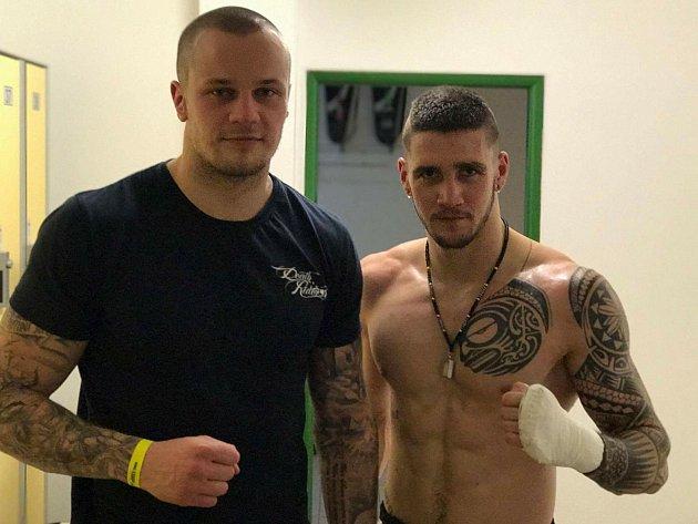 Lukáš Valdman (vlevo) porazil vicemistra Slovenska.
