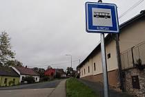 Autobusová zastávka Klimeška v Kutné Hoře.